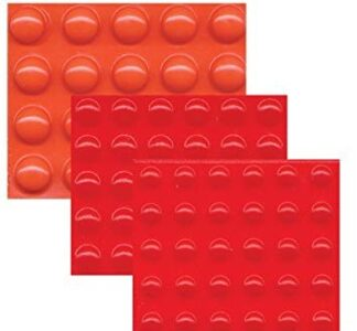 Orange and red bump dot stickers