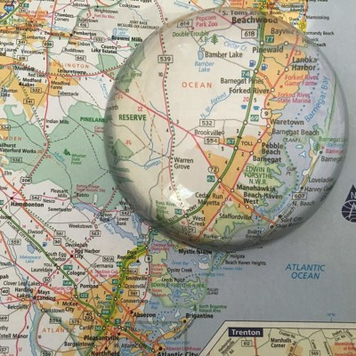 Dome magnifier on a map