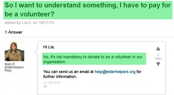 Volunteers don't always pay for their own background checks. The website implies that they do.