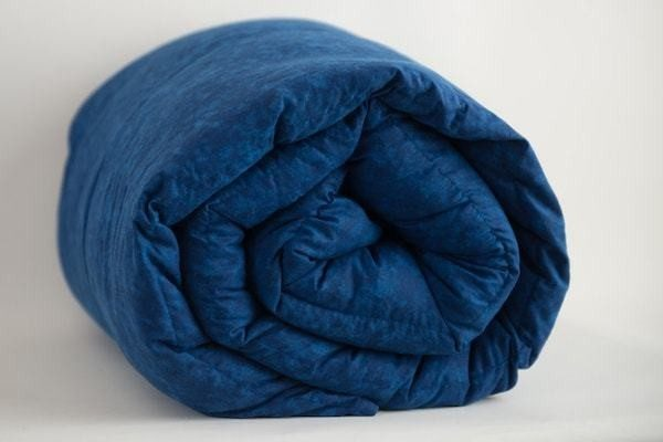 Blue weighted blanket