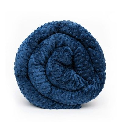 The Minky weighted blanket in navy blue