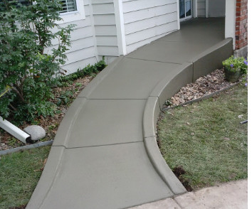 Concrete wheelchair ramp