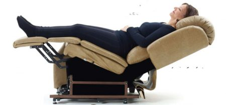 Lying in the Zero Gravity Position in a Stellar Lift Chair Recliner