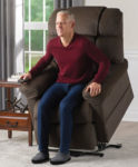 A Lift Chair Recliner lifts you up and forward to make it easier to stand up.