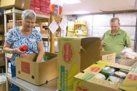 RSVP volunteer at a food bank