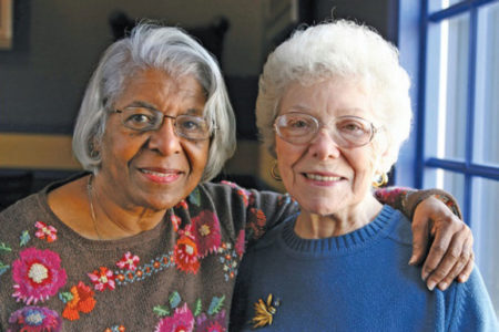Senior Companion volunteer and client at Catholic Charities