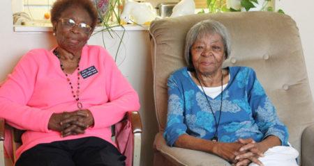 Senior Companion volunteer and client