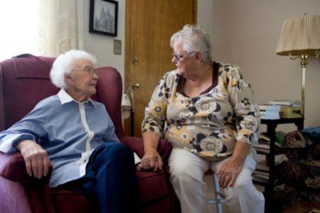Senior Companion volunteer and client in Utah
