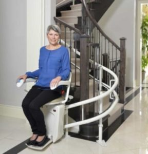 Savaria Curved Stair Lift