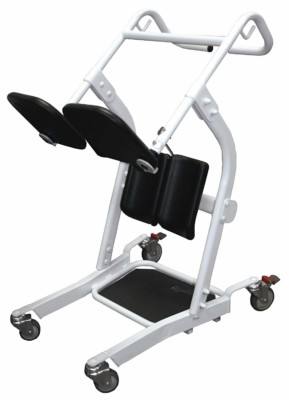 Use a Patient Transport for assistance standing and then transport from room to room.