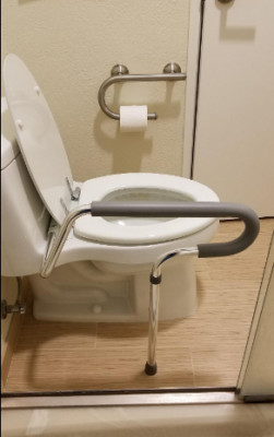 Some Toilet Assist models allow you to use just one arm instead of two.