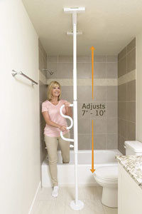 Hang onto the Transfer Pole when making large steps.
