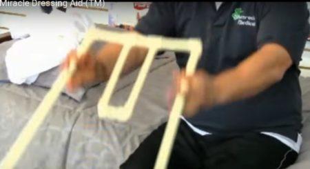 5. Drop the pants opening toward the floor