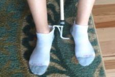 Use a dressing stick to take off socks
