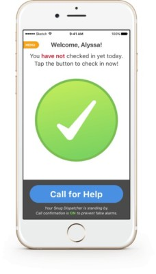 Snug App safety screen