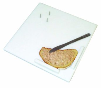 The Parsons Cutting Board walls hold food for preparation