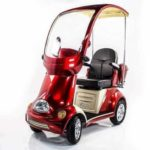Ewheels EW-54R 4-Wheel Deluxe Scooter with Full Cover and Front Windshield
