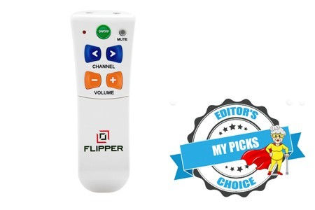 Best TV remote for low vision users.