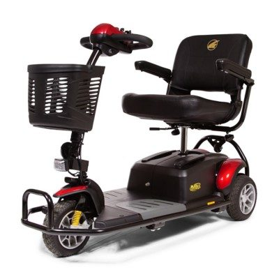 Most carriers have length, width and height restrictions on mobility scooters