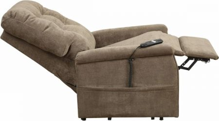 Pulaski Montreal Lift Chair sleep mode, chocolate brown