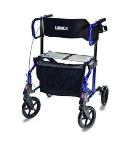 Lumex rollator wheelchair hybrid
