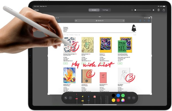 "Use the ""pencil"" to draw on your iPad"