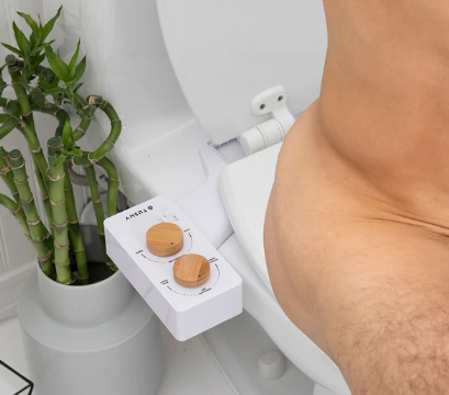 The Tushy Spa Bidet makes it easy to wash after using the toilet