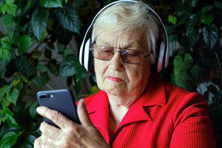 Give Grandma an audiobook
