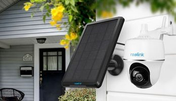 The Reolink Argus PT is a solar security camera with pan and tilt motions.