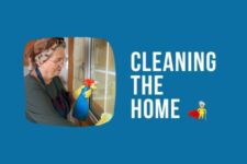 cleaning the home