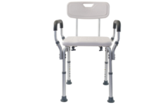 Essential Medical Bath Chair with Arms and Back
