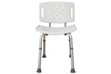 Essential Medical tub chair with removable back and no arms