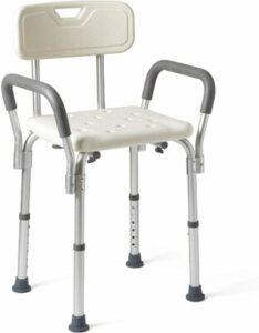 Medline shower chair with armrests and back