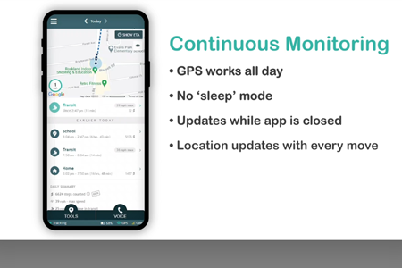 AngelSense Continuous Monitoring